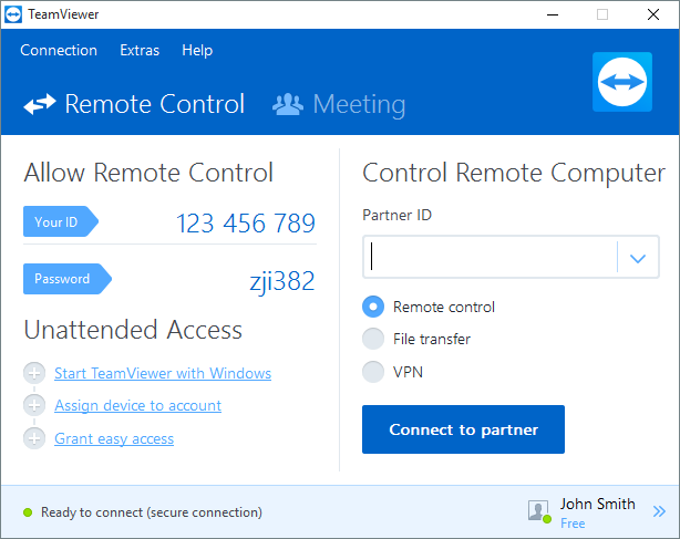 TeamViewer Interface